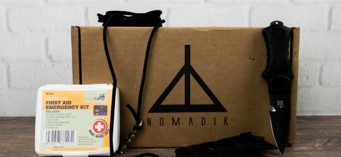 Nomadik January 2018 Subscription Box Review + Coupon