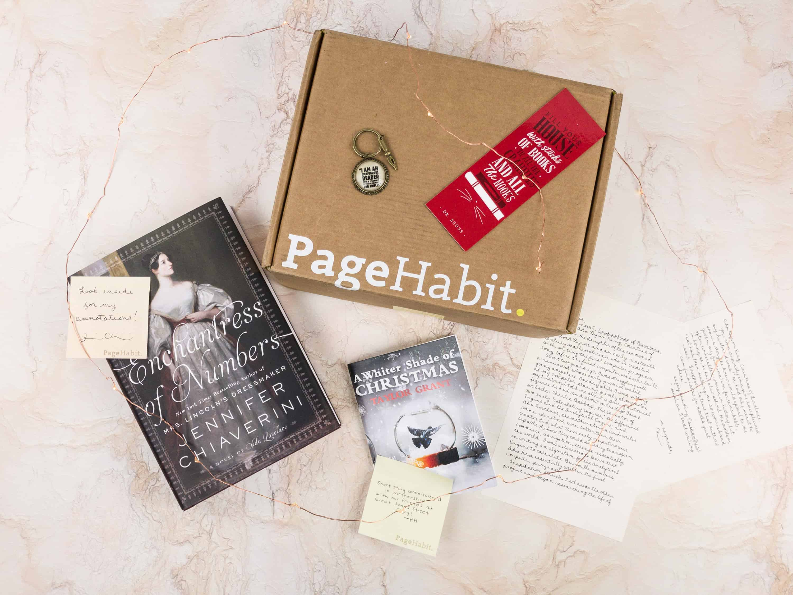 PageHabit December 2017 Subscription Box Review + Coupon – Historical Fiction