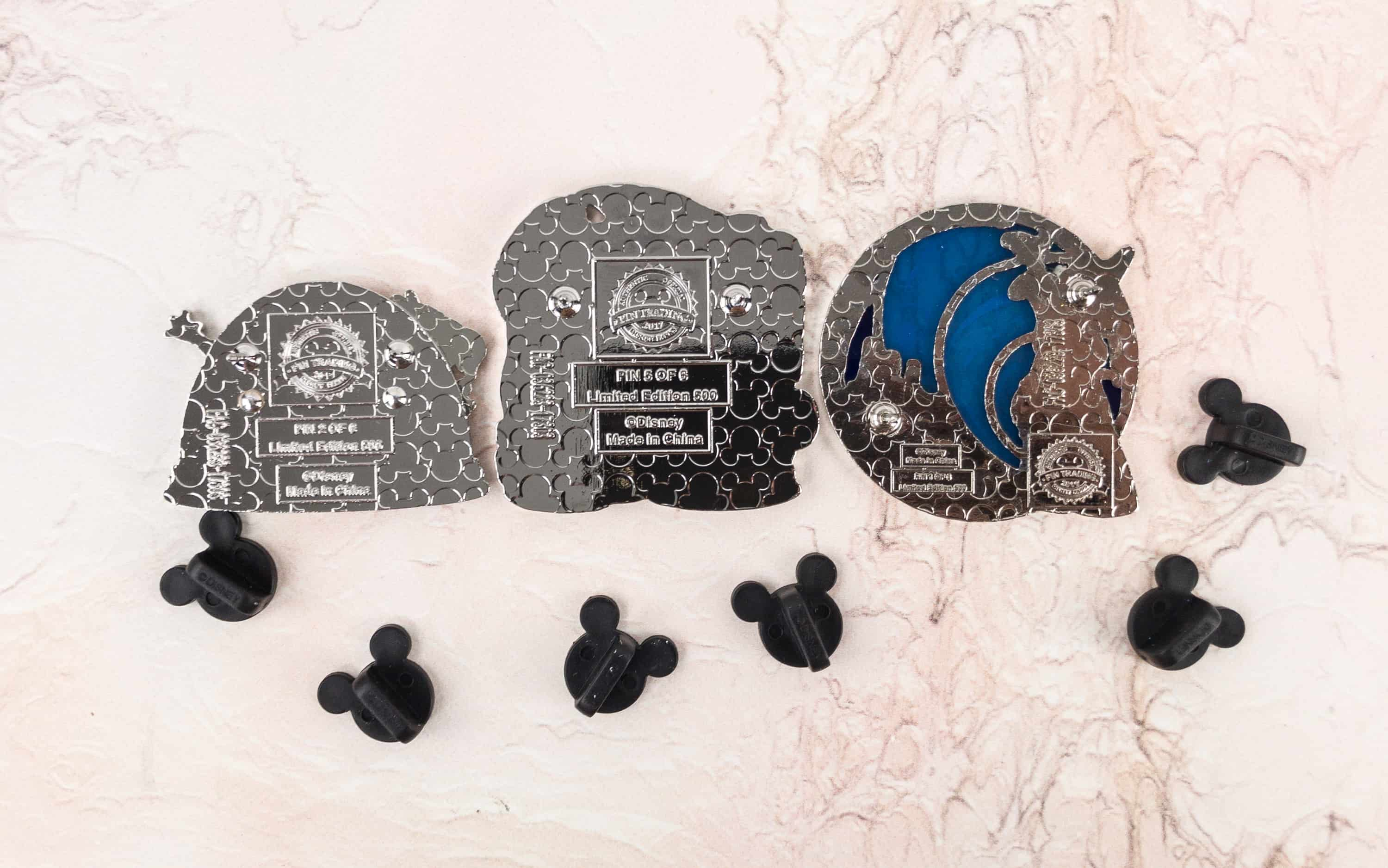 All The Pins This Month Came With Two Posts That Fit A Rubber Mickey Pin Back There Are 6 Variants Of Each And 500