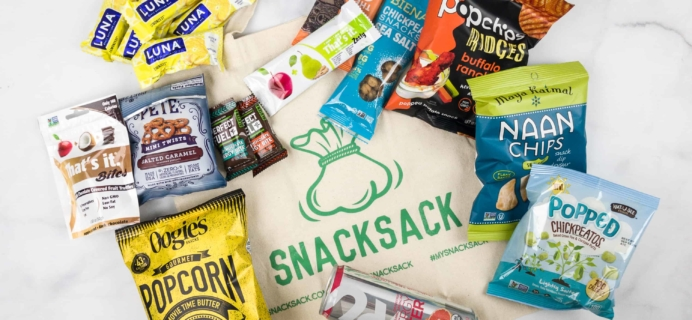 SnackSack January 2018 Subscription Box Review & Coupon – Classic