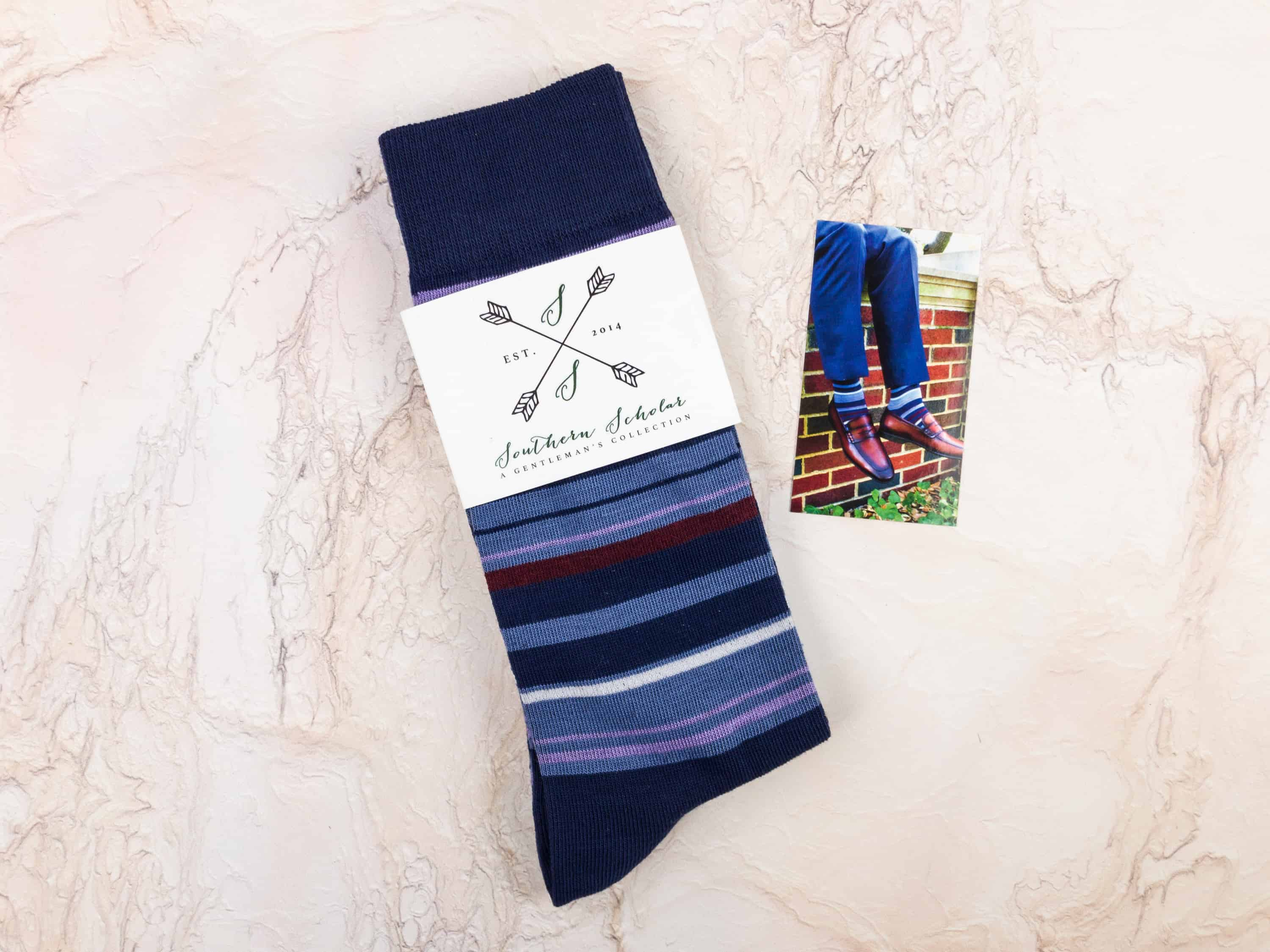 Southern Scholar Men's Sock Subscription Box Review & Coupon – January 2018