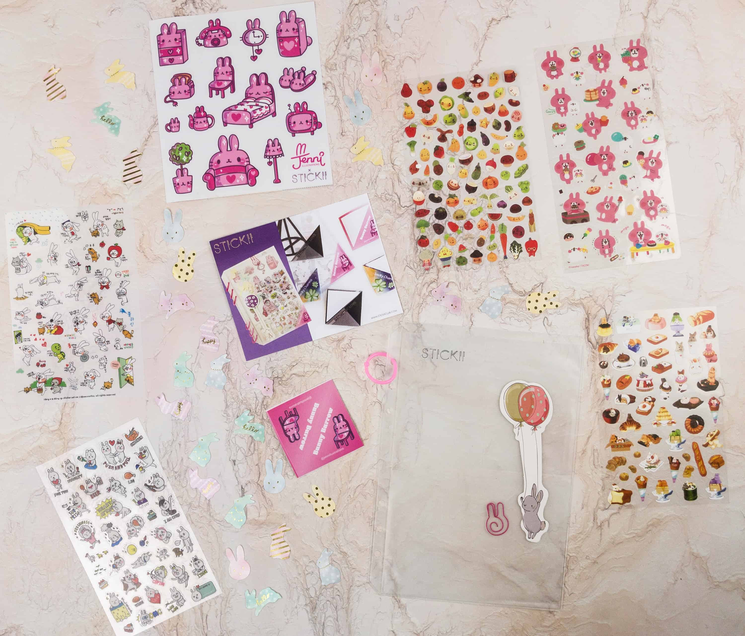 Stickii Club January 2018 Subscription Box Review – Cute Pack!