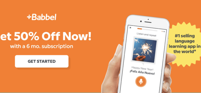 Babbel Deal: Get 50% Off 6-Month Subscription!