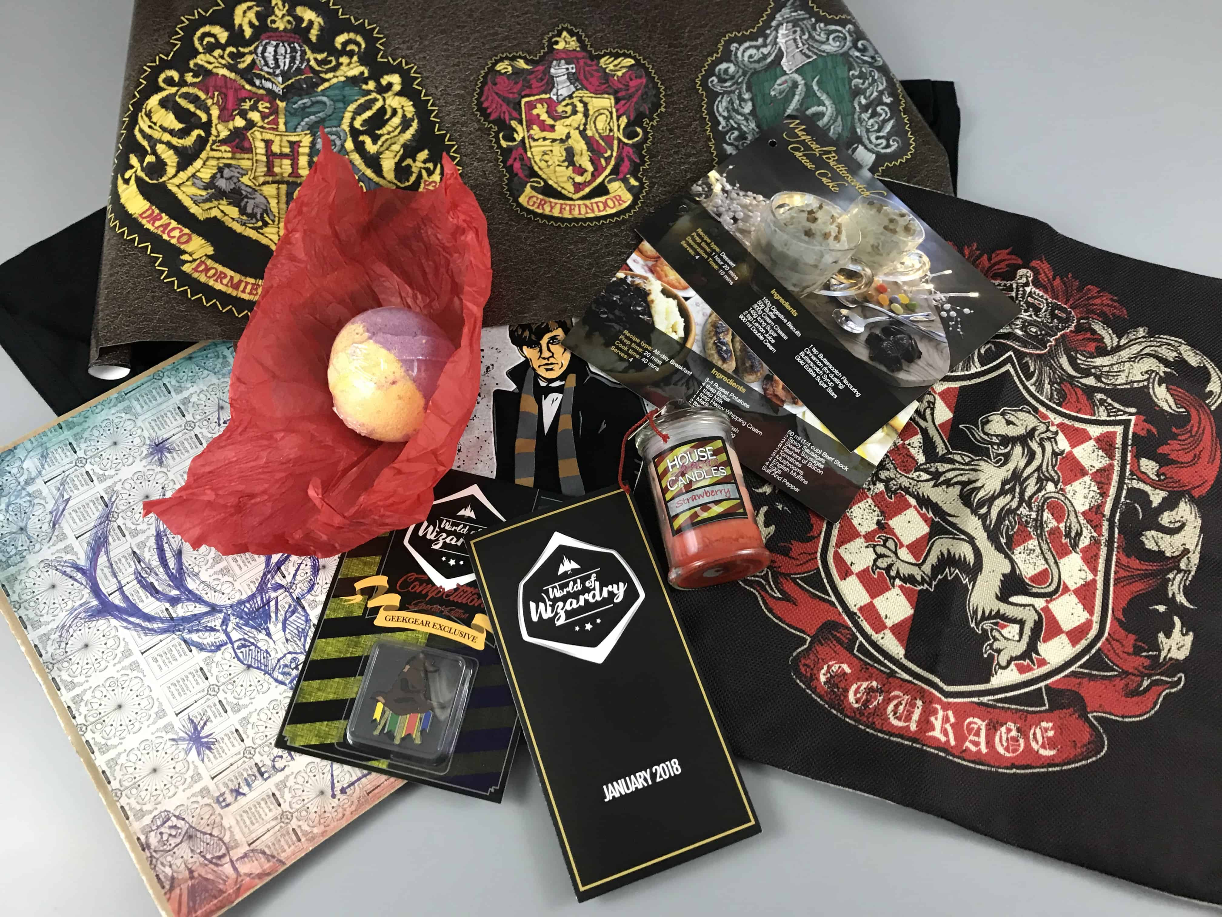 Geek Gear World of Wizardry January 2018 Subscription Box Review