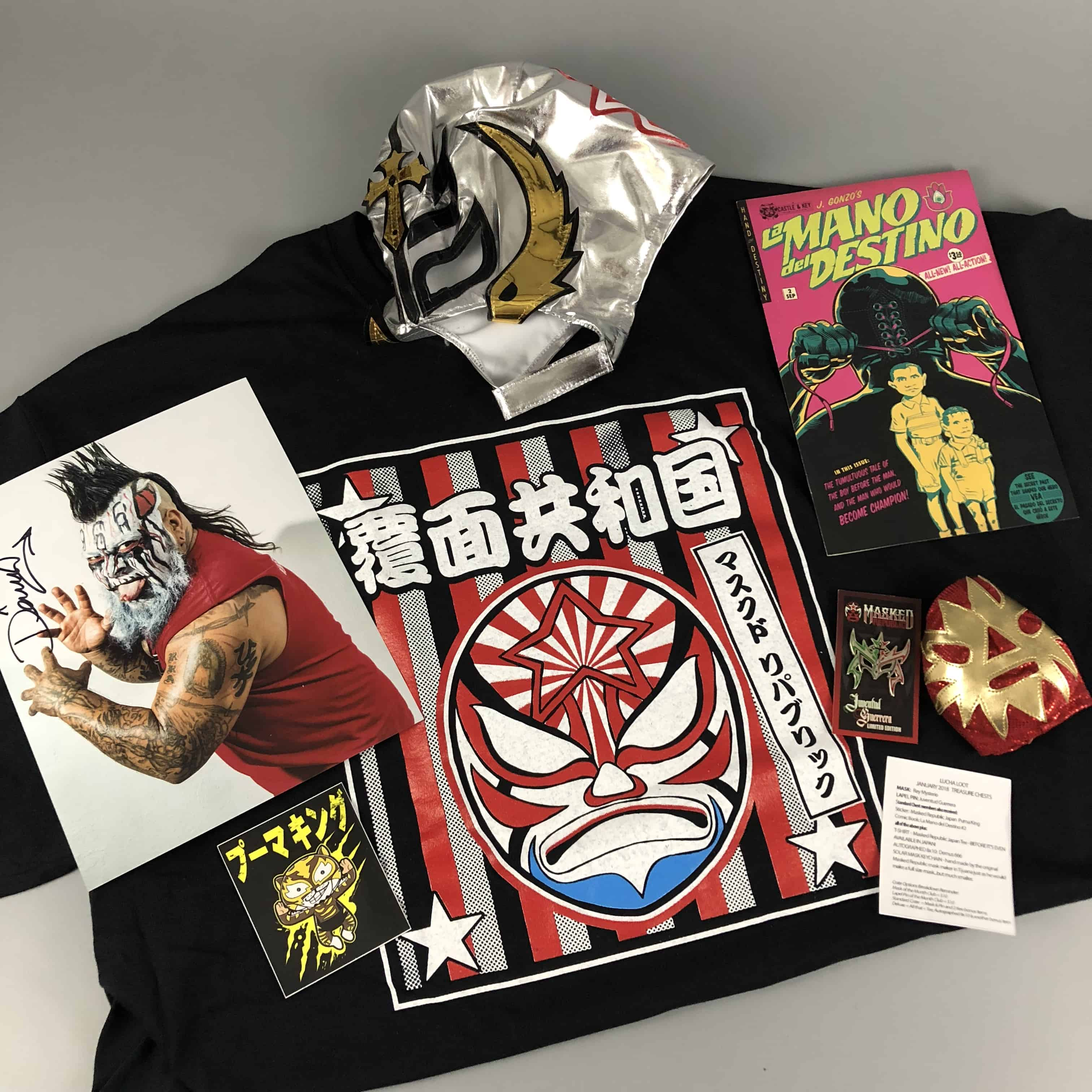 Lucha Loot Subscription Box Review & Coupon – January 2018