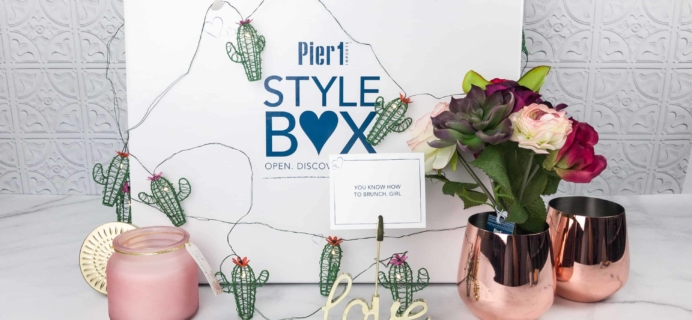 Pier 1 Style Box Spring 2018 Review & Coupon
