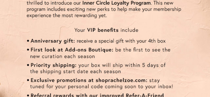 Box Of Style Launches New VIP Program – The Inner Circle Loyalty Program!