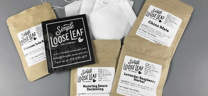 Simple Loose Leaf Tea February 2018 Subscription Box Review + Coupon!