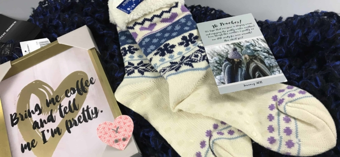 Peaches and Petals January 2018 Subscription Box Review & Coupon