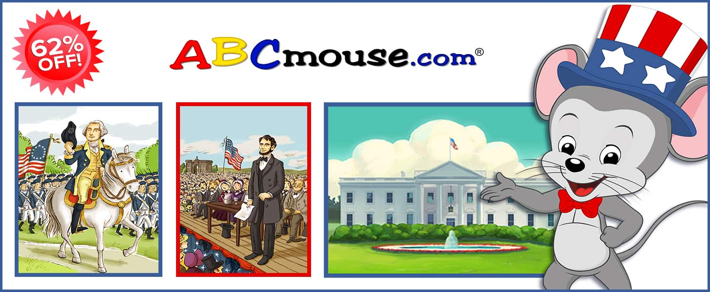 ABCmouse President's Day Deal: Get 1 Year of ABCmouse for $45 – 62% Off! LAST CHANCE!