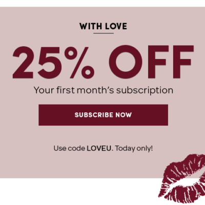 Ellie Coupon: 25% Off First Box!