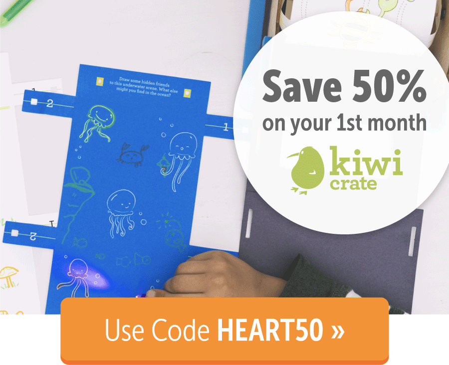 KiwiCo Valentine's Day Sale: 50% Off First Month TODAY ONLY!