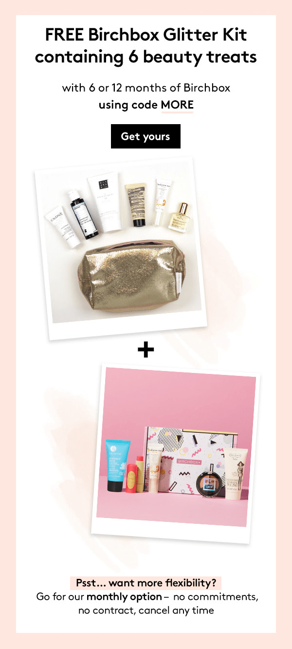 Birchbox UK Coupon : Get FREE Birchbox Glitter Kit With A 6 Or 12 Month Subscription!