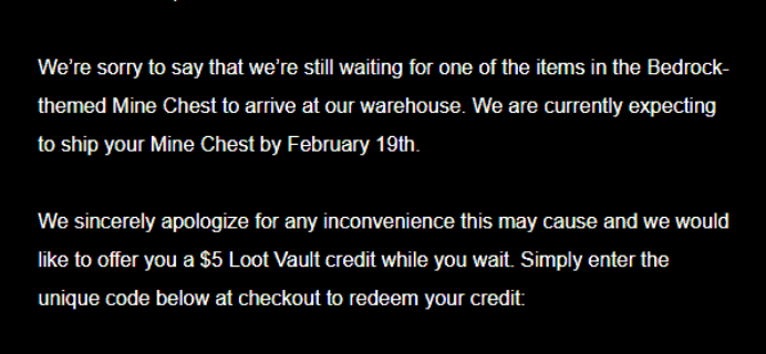 Mine Chest Bedrock Chest Shipping Update!
