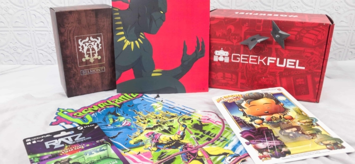 Geek Fuel February 2018 Subscription Box Review + Coupon!