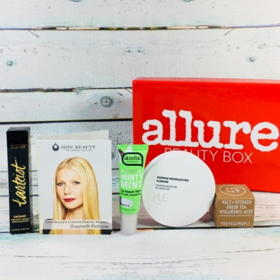 Allure Beauty Box February 2018 Subscription Box Review & Coupon