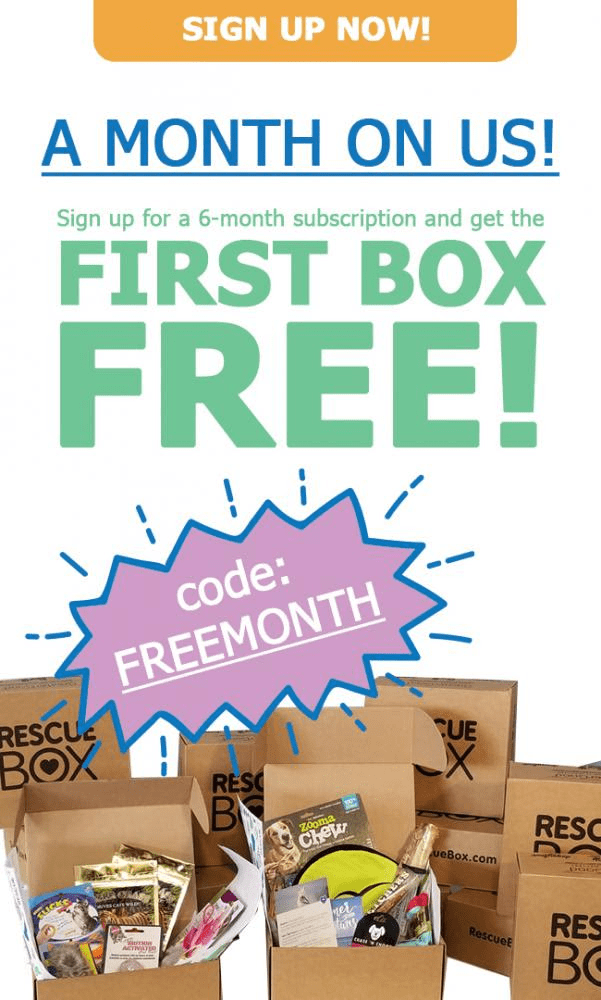 Rescue Box Sale: Get Your First Box Free With 6-Month Plan!