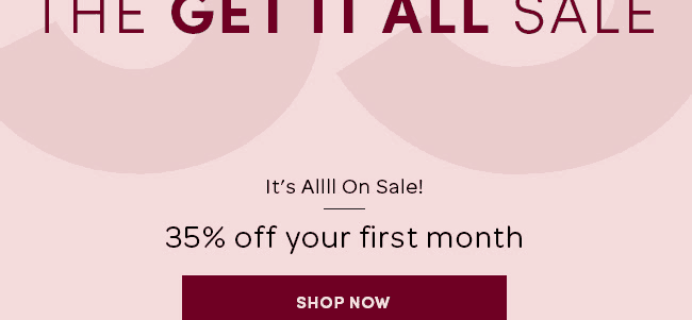 LAST DAY – Ellie Get It All Sale: Get 35% Off First Box!