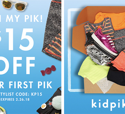 Kidpik Coupon Code: Save $15 On First Box + Extra 30% Off!