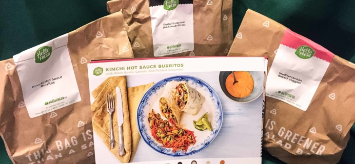 Hello Fresh Vegetarian Subscription Box Review + Coupon – February 2018