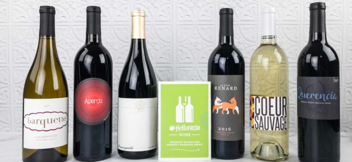 Hello Fresh Wine February 2018 Subscription Box Review + Coupon