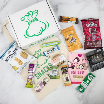 SnackSack February 2018 Subscription Box Review & Coupon – Vegan