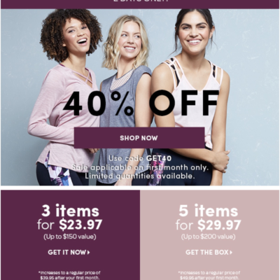 Ellie Flash Sale: Get 40% Off First Box!