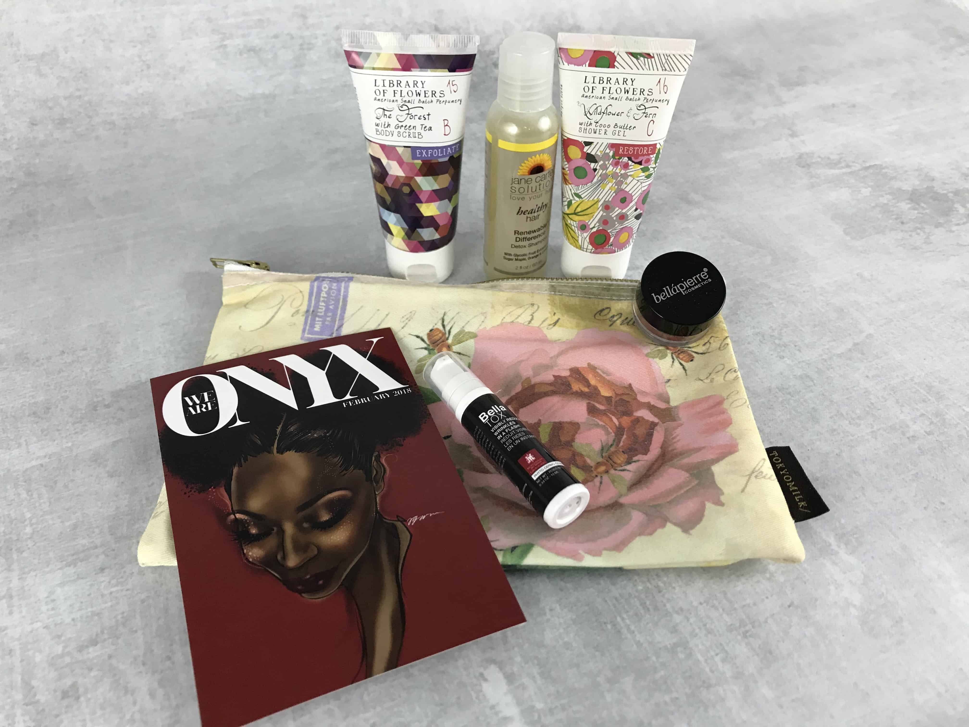 We Are Onyx ONYXBOX February 2018 Subscription Box Review + Coupon