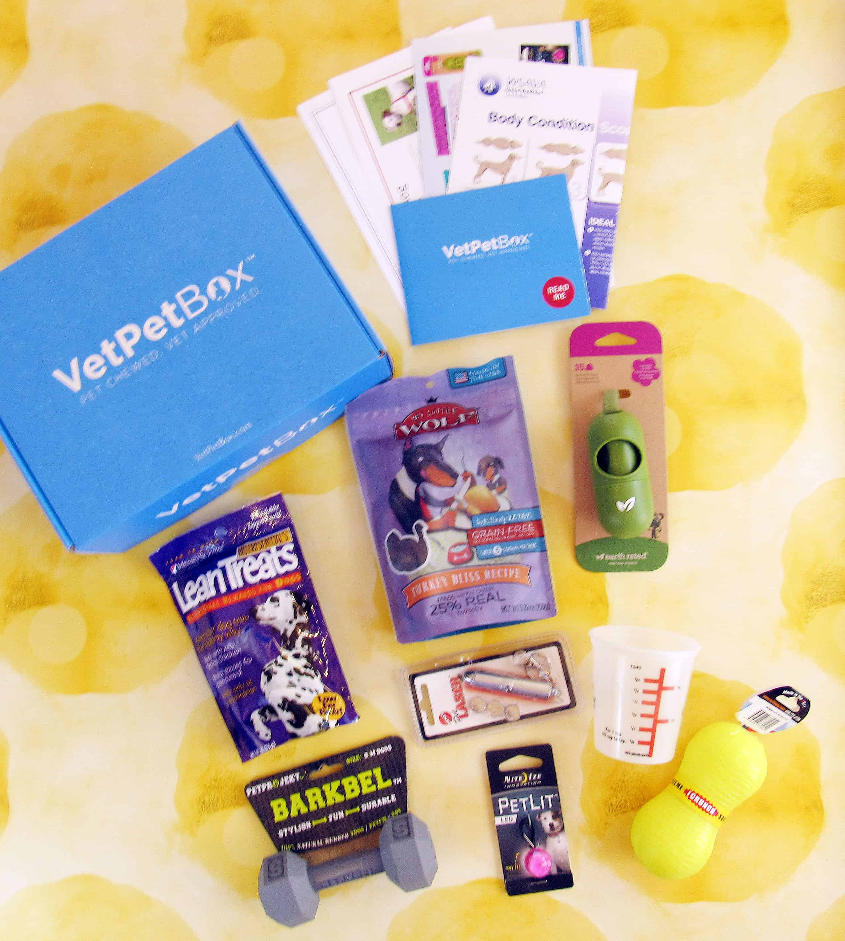 VetPet Box Dog & Puppy January 2018 Subscription Box Review + Coupon – Petite Size