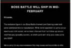 January 2018 Loot Gaming Shipping Delay