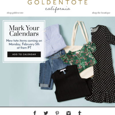 Golden Tote February 2018 First Look Spoilers!
