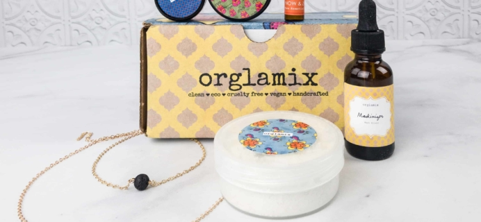Orglamix January 2018 Subscription Box Review & Coupon