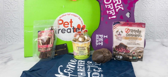 Pet Treater Dog Subscription Box Review + Coupon – Welcome Pack