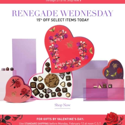 Vosges Haut-Chocolate Valentine's Day Flash Sale: Get 15% Off + $5 Flat Rate Shipping!