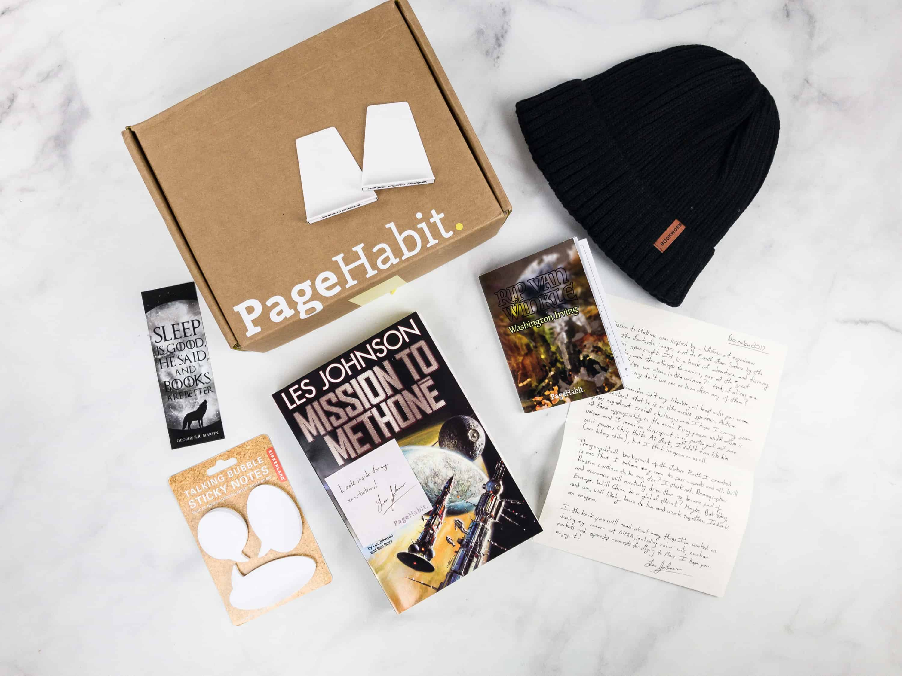 PageHabit February 2018 Subscription Box Review + Coupon – Sci Fi