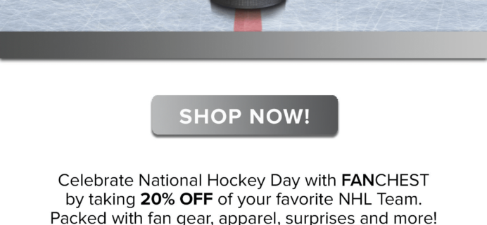 Fanchest NHL Box Deal: 20% Off Any Box!