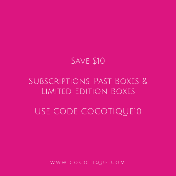 Cocotique Sale: $10 Off All Subscriptions & Past Boxes!