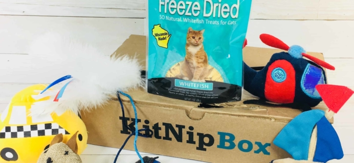 KitNipBox Review & Coupon – Cat Subscription Box – March 2018