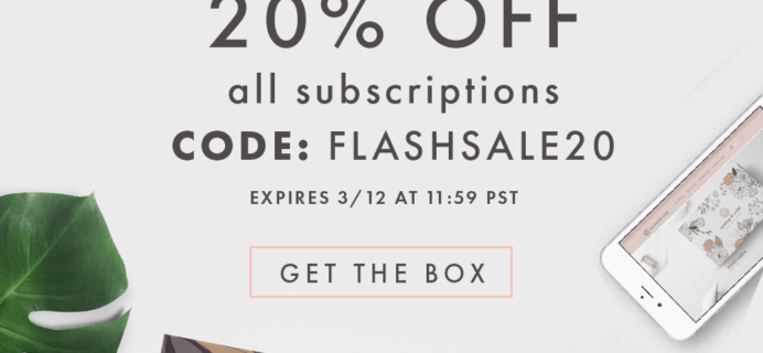 Bombay & Cedar Flash Sale: 20% Off All Subscriptions TODAY ONLY!