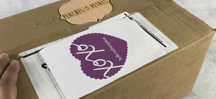 Peaches and Petals February 2018 Subscription Box Review & Coupon