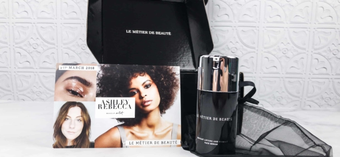 Le Métier de Beauté Beauty Vault VIP Subscription Box Review – March 2018