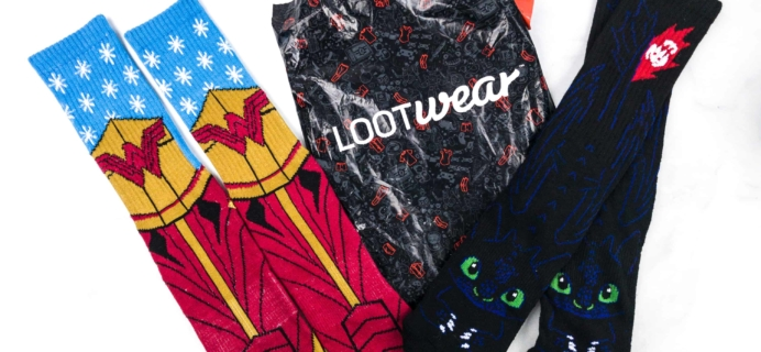 Loot Socks by Loot Crate February 2018 Subscription Box Review & Coupon
