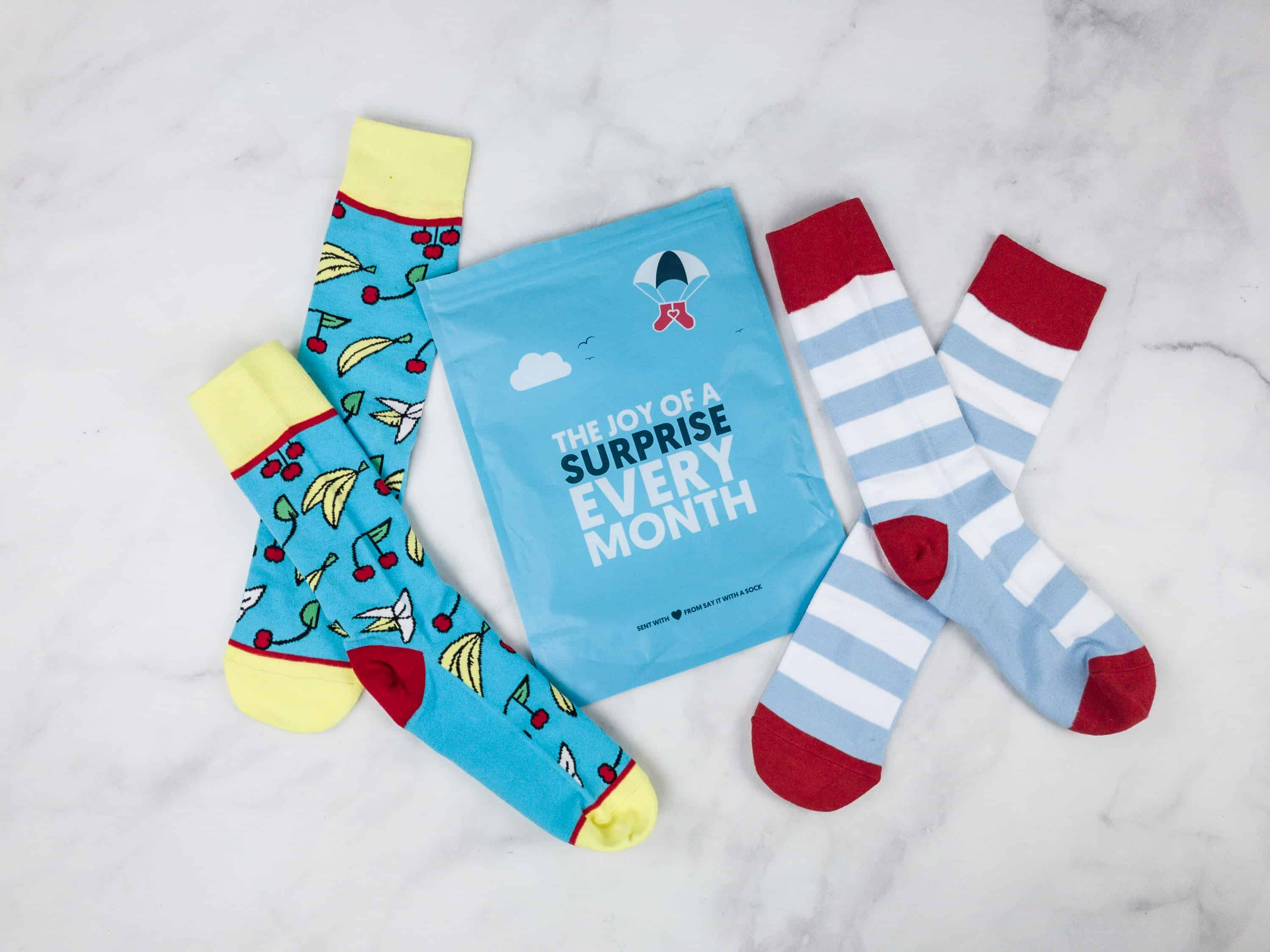 Say It With A Sock March 2018 Men's Sockscription Box Review & Coupon