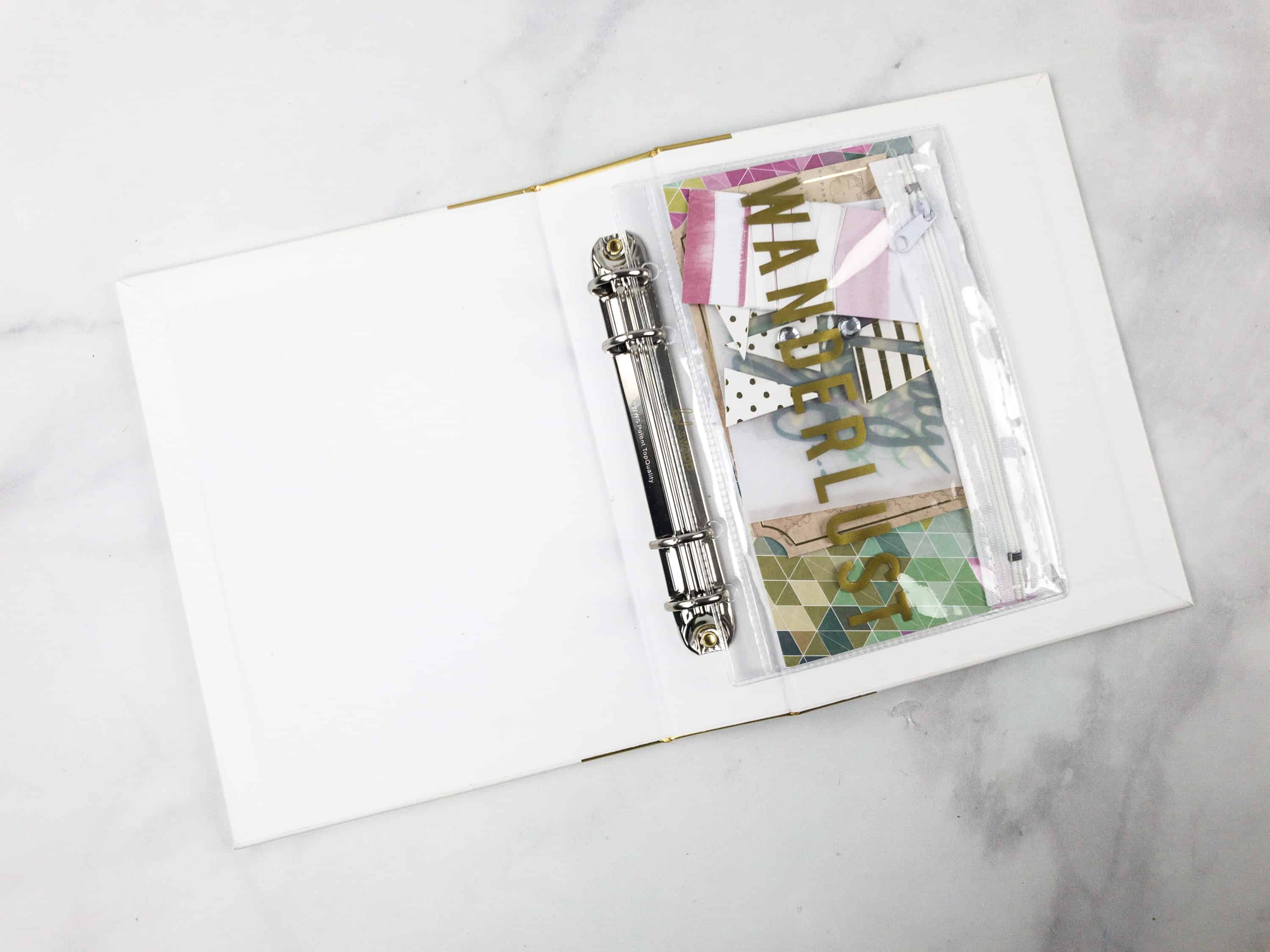 It Looks Great Placed Inside The Binder, And Makes A Better Storage For  Other Stationery Items!