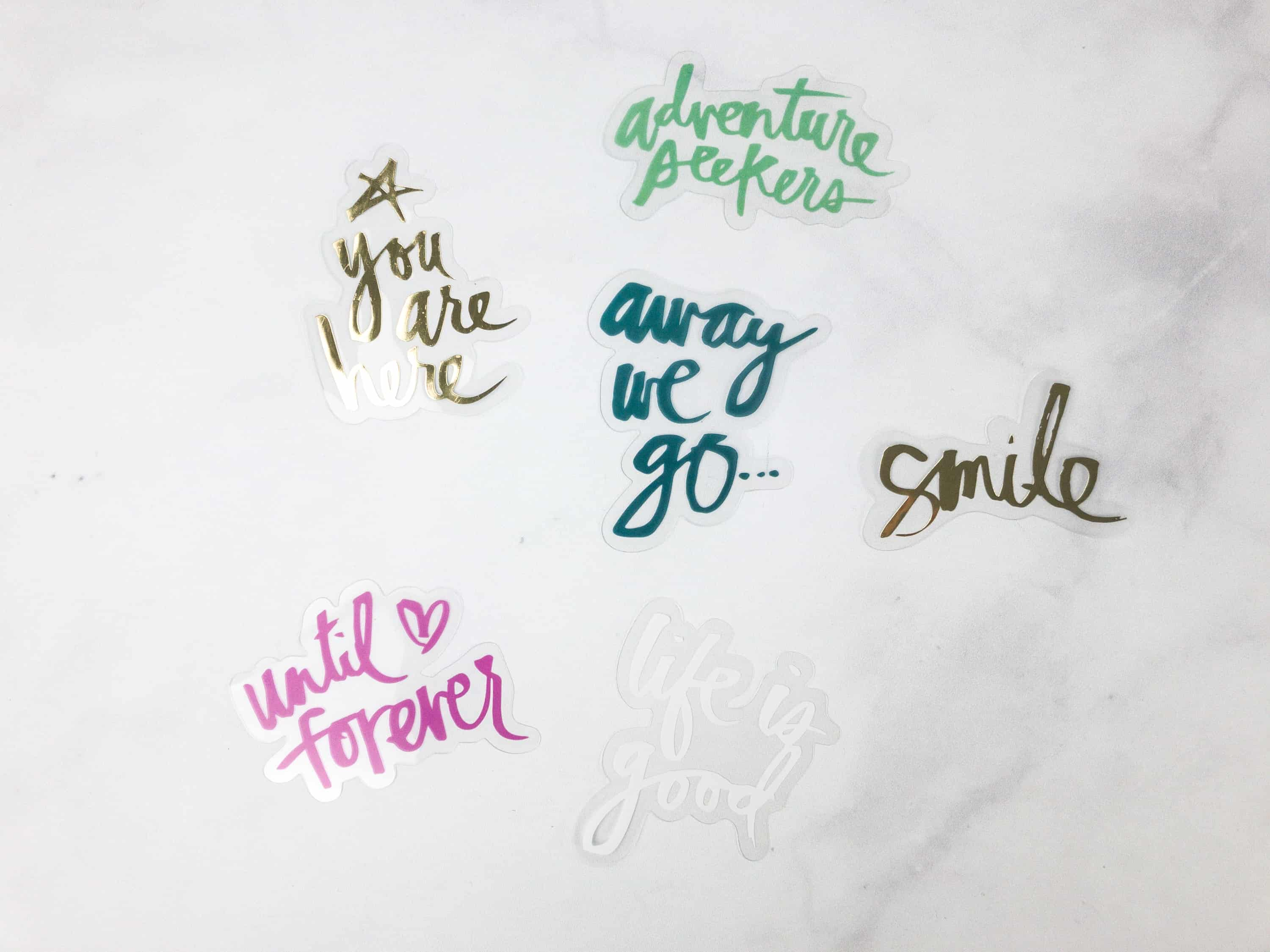 It Contains Cool Statement Stickers That You Can Use To Decorate The Binder  Or The Pages You Would Like To Attach To It.