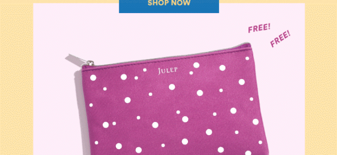 New Julep Code: Get a FREE Cosmetic Bag With Any $30 Purchase!