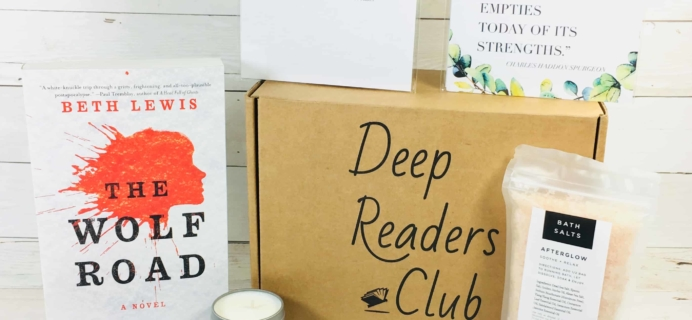 Deep Readers Club March 2018 Subscription Box Review + Coupon!