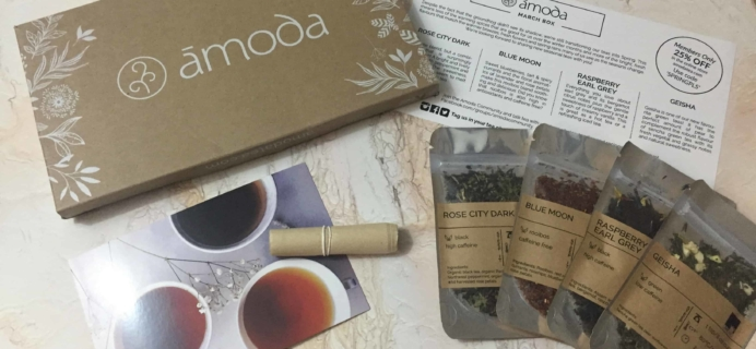 Amoda Tea March 2018 Subscription Box Review + Coupon!