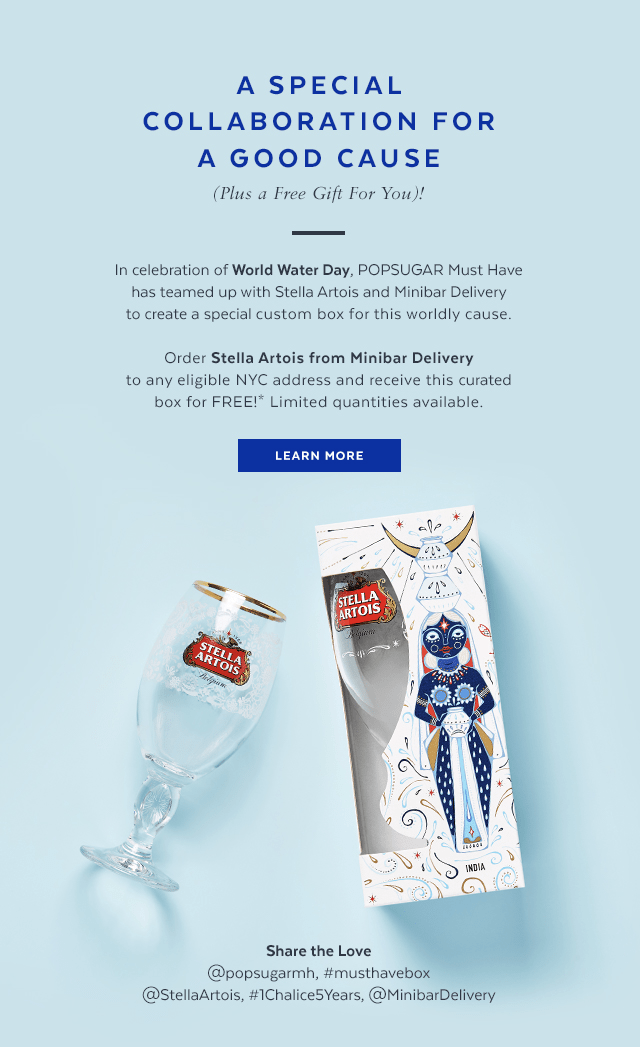 Popsugar X Stella Artois Free Gift No Purchase Necessary Hello