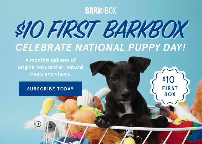 BarkBox Coupon: First Box $10 with 6+ Month Subscription!
